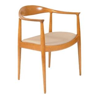 """Pair of Hans J. Wegner """"the Chair"""" for Johannes Hansen, Denmark For Sale"""