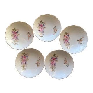 5 Vintage Cottage Shabby Chic Floral Berry Dessert Salad Bowls