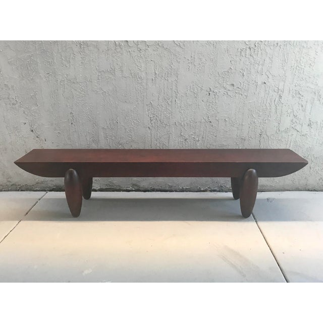 Wood Pirogue Bench by Christian Liaigre for Holly Hunt For Sale - Image 7 of 8
