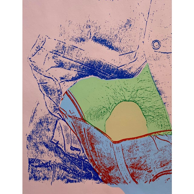 Mid 20th Century Mid-Century Pink Abstract Serigraph For Sale - Image 5 of 5