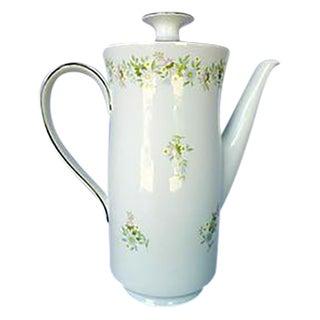 Mid-Century Modern Porcelain Floral Coffee Pot For Sale