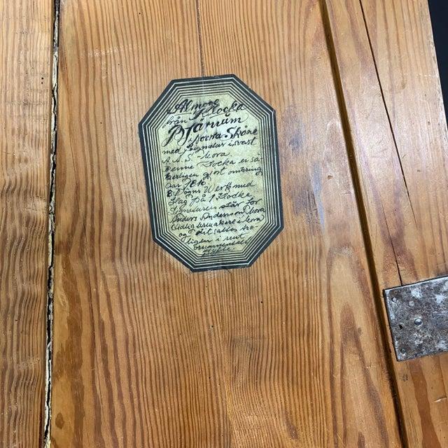 Gustavian 1810 Mora Longcase Pinewood Clock, Sweden For Sale - Image 10 of 13