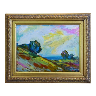Juan Pepe Guzman Ojai Landscape Seascape Oil Painting For Sale