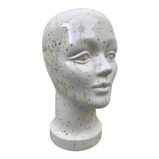Ceramic Splatter Paint Mannequin Head