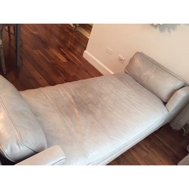 Williams Sonoma Presidio Leather Settee - Image 7 of 7