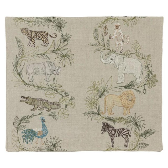 Join us on an embroidered safari to discover animals from around the globe, from the mighty rhinoceros to the benevolent...