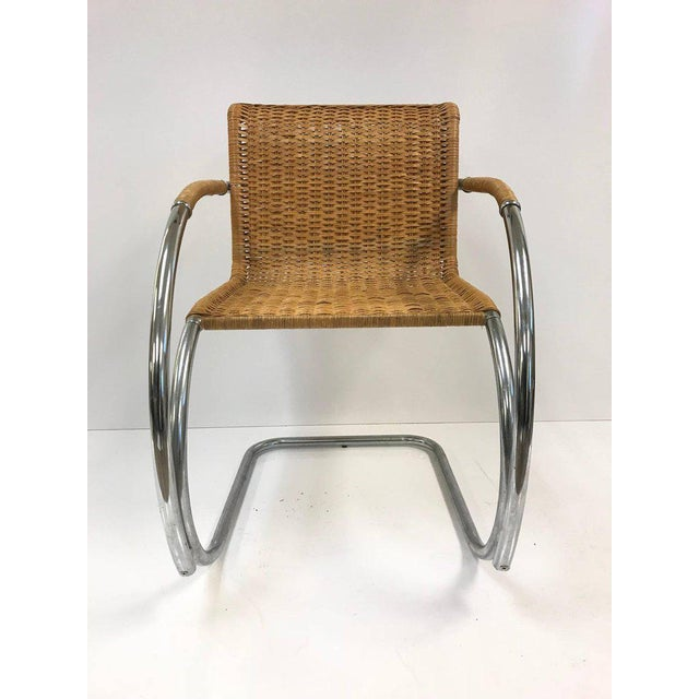 Set of four Ludwig Mies van der Rohe MR20 chairs.
