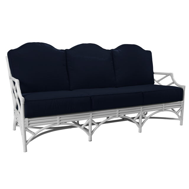 Chippendale Chippendale Outdoor Sofa - White For Sale - Image 3 of 3