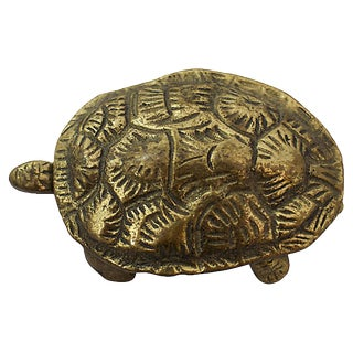 Brass Turtle Trinket Box For Sale
