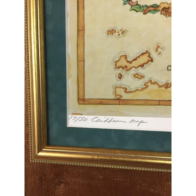 Watercolor Painting of Caribbean West Indies Map - Image 5 of 7