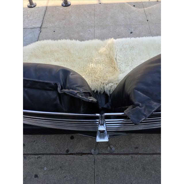 1980s Chrome & Leather Sofa - Image 8 of 11