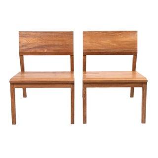 Javanese Teak Lounge Chairs - A Pair