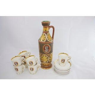 Deruta Pottery Drinkware Set, 15 Pcs. Preview