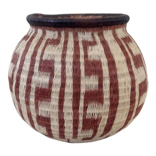 Geometric-Style Woven Wounaan Basket For Sale