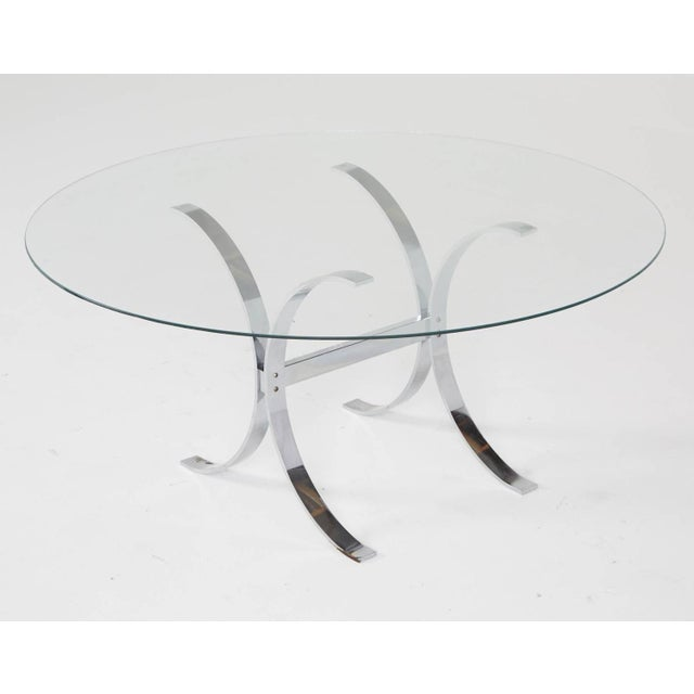Pace Style Glass and Chrome Coffee Table - Image 7 of 7