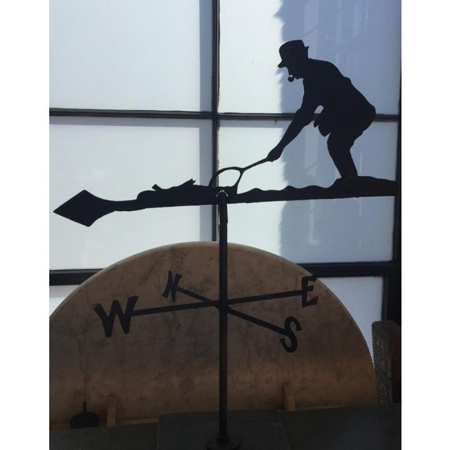 Mid 20th Century Fly Fisherman Weathervane For Sale - Image 4 of 5
