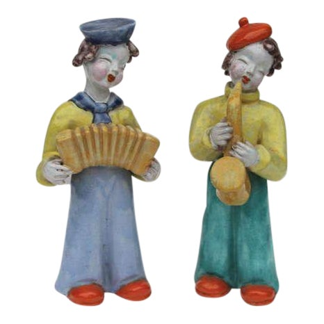 Figures by Hungarian Maria Rahmer- A Pair For Sale