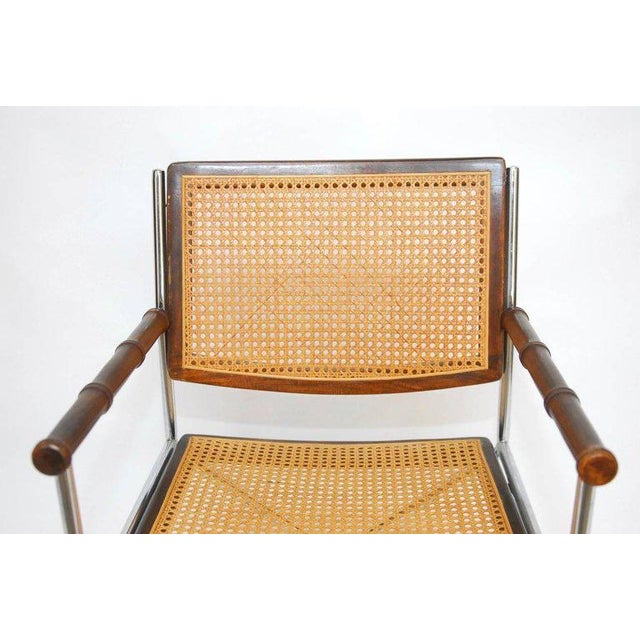 Mid-Century Chrome and Caned Director Chairs - A Pair - Image 3 of 8
