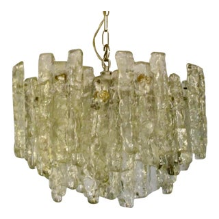 Finnish Glass Icicle Chandelier For Sale