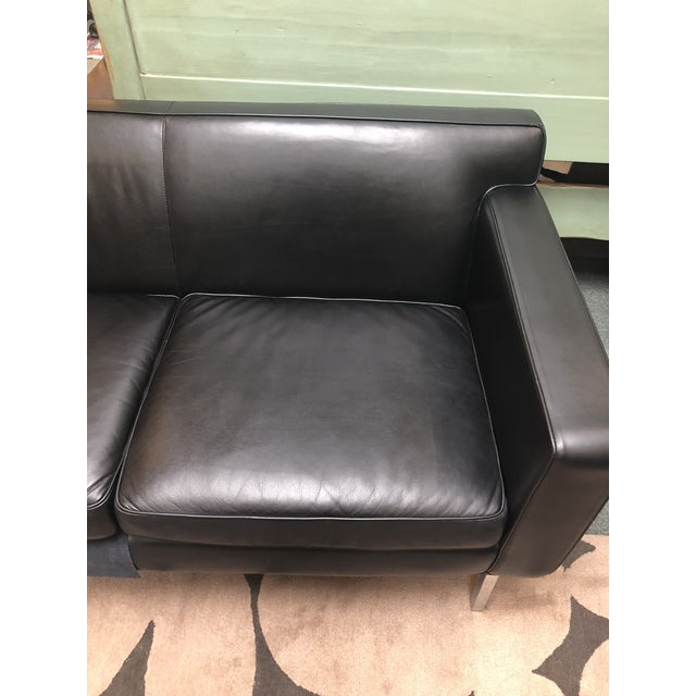 Black Design Within Reach by American Leather Ted Boerner Theatre Two-Seat Sofa For Sale - Image 8 of 13
