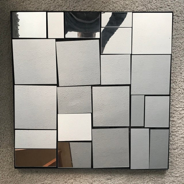 Cb2 Neal Small Slopes Style Mirror For Sale - Image 10 of 10