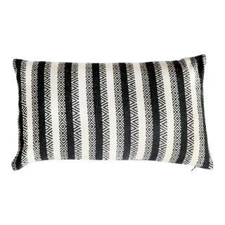 Stick & Ball Diamond Stripe Alpaca Pillow For Sale