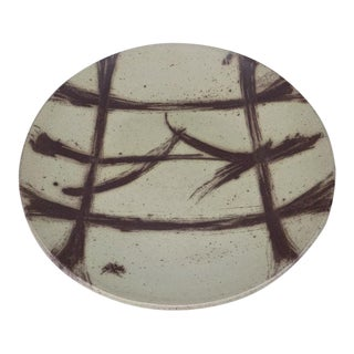 """18.5"""" Richard (R.) Tuck Studio Pottery Charger For Sale"""