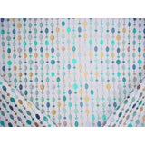 Image of Contemporary Kravet Couture Beaded Linen Turquoise Embroidered Upholstery Fabric - 2-3/8y For Sale