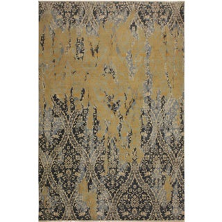 Abstract Modern Howard Gray/Ivory Wool Rug - 8'0 X 10'1 For Sale