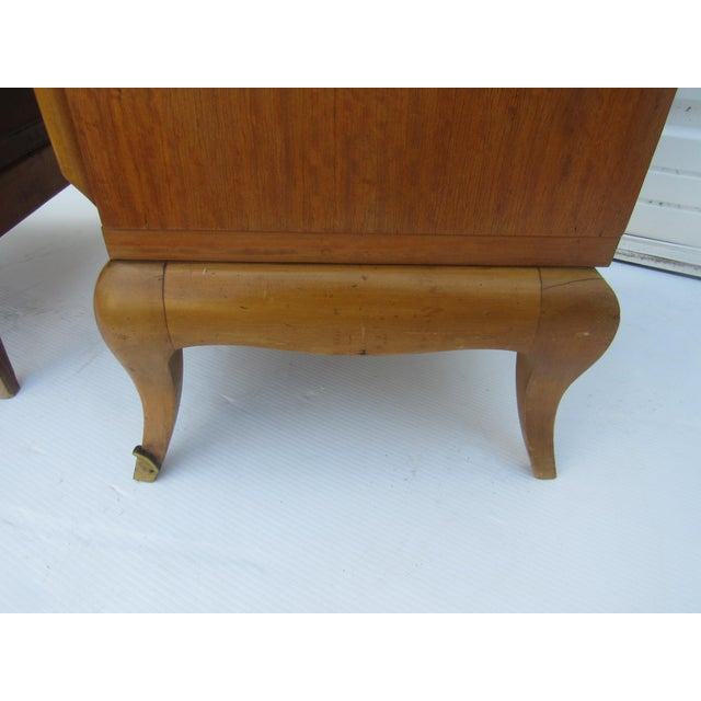 1950s French Maple Nightstands - A Pair - Image 8 of 10