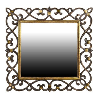 Continental Baroque Style Designer Beveled Mirror For Sale