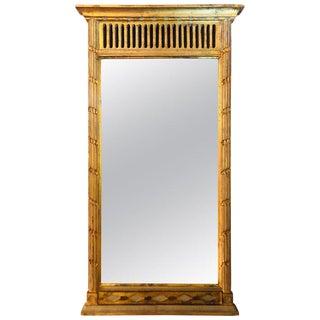 Italian Neoclassical Style Hollywood Regency Gilt Wall Mirror