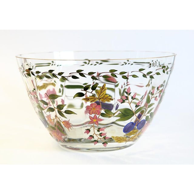 Vintage Hand Painted Glass Bowl - Image 2 of 8