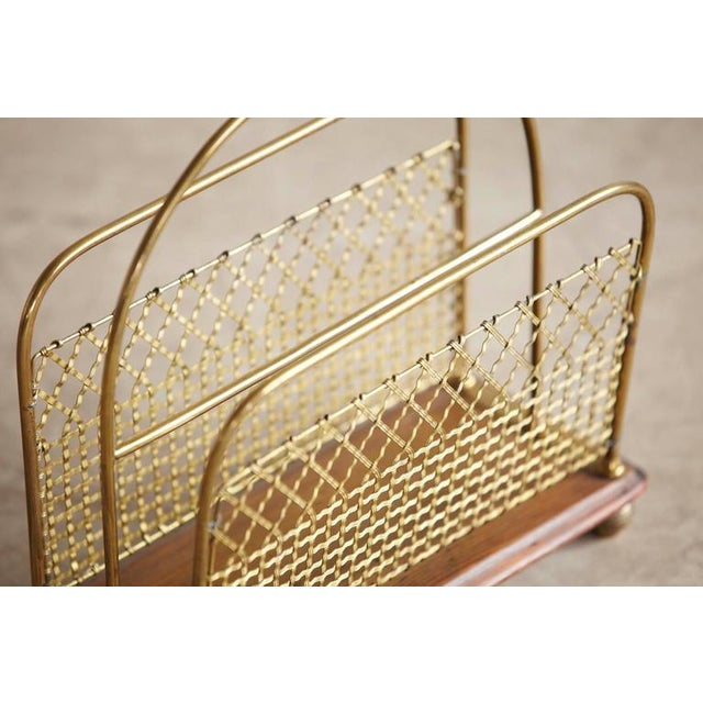 Aesthetic Movement 19th Century Aesthetic Movement Woven Brass Canterbury Rack For Sale - Image 3 of 8