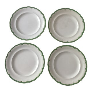 Vintage Royal Vitreous China Plates Made in England – Set of 4 For Sale