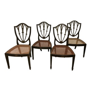 18th Century English Shield Back Side Chair- 4 Pieces For Sale