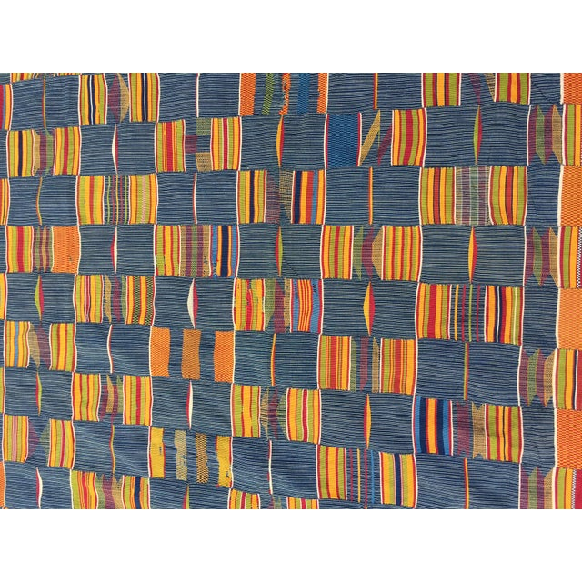 Vintage African Textile Kente Cloth Cotton Fabric / Blanket - Image 5 of 10