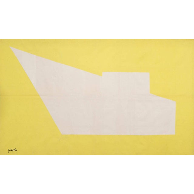 """1960s Handwoven Geometrical Tapestry Designed by Émile Gilioli - """"Agressivité Pure"""" For Sale - Image 5 of 5"""
