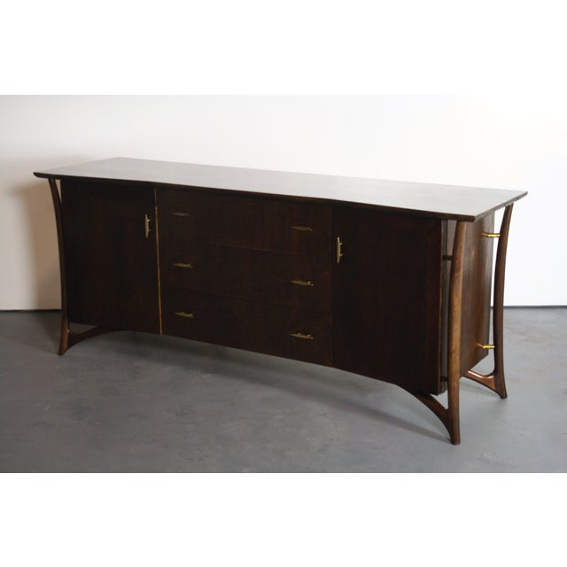 Mid-Century Modern Piet Hein Sculptural Walnut Dresser Daniel Jones For Sale - Image 3 of 11
