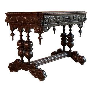 19th Century French Renaissance Oak Centre Table, circa 1850 For Sale