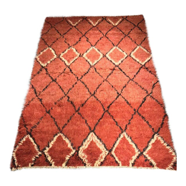 "Bellwether Rugs Vintage Azilal ""Joye"" Rug - 8' X 5'4"" For Sale"