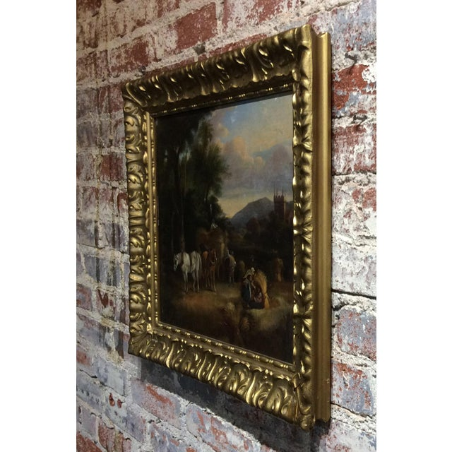 Late 18th Century Antique 18th Century Dutch Old Masters Oil Painting For Sale - Image 5 of 10