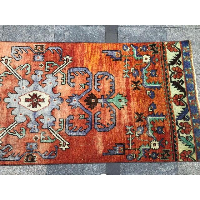 Textile Turkish Handmade Hallway Runner Rug For Sale - Image 7 of 10