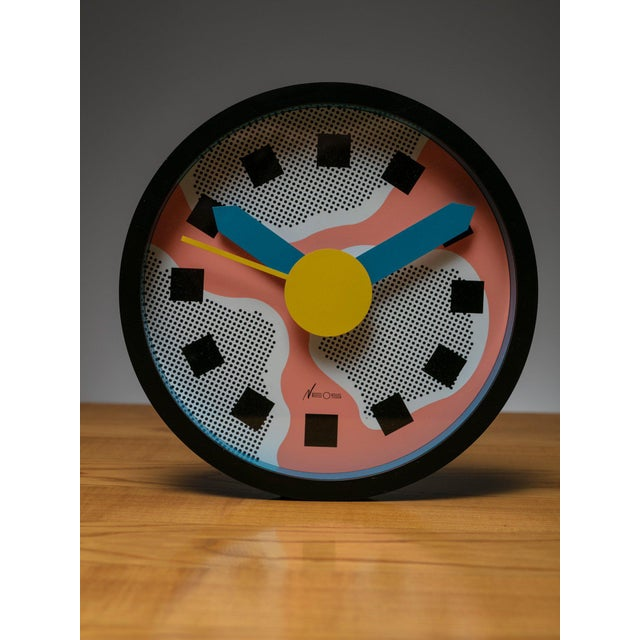 Nathalie du Pasquier Wall Clock by Sowden and Du Pasquier for Neos For Sale - Image 4 of 4