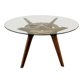 Mid-Century Modern Adrian Pearsall Compass Walnut Dining Table