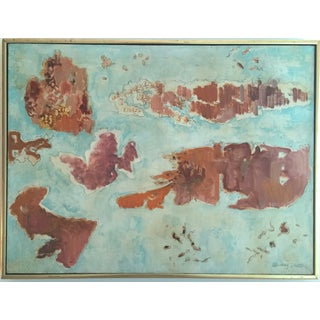 Mid Century Abstract Oil Painting by Shirley Black
