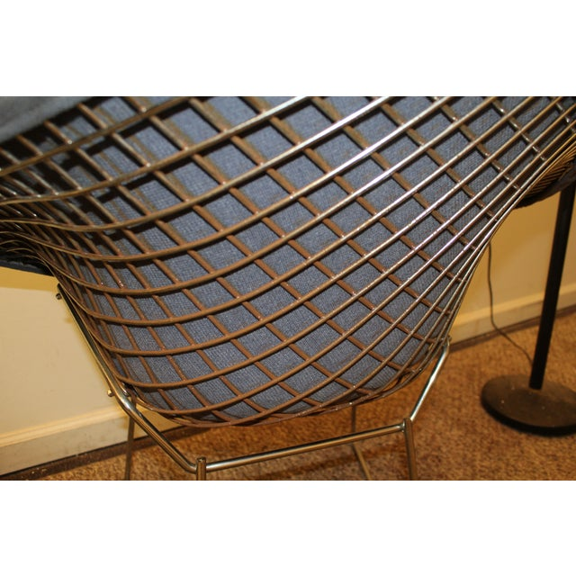 Bertoia Mid-Century Blue Diamond Chairs - Pair - Image 10 of 11