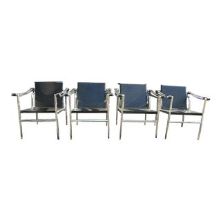Vintage Mid Century Modern Basculant Chairs - Set of 4 For Sale