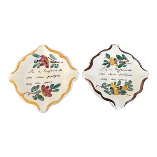 Vintage French Ashtray Dishes - a Pair For Sale