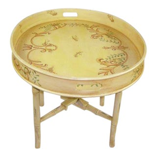 Yellow Coffee Tray Table For Sale